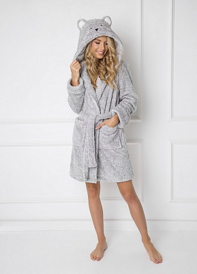 Халат с ушками ARUELLE SWEET BEAR GREY