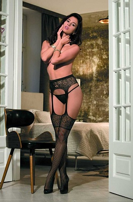 Чулки на поясе Caprice Garter stockings C 703